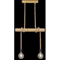 Suspension bambou Fragno 2 x E27