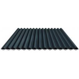 Tôle ondulée 1 face gris typhon - 25microns/5microns - 75/100e - sans garantie long 5m