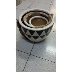 Pots en céramique - 3 pièces