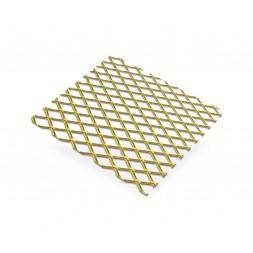 Métal déployée aluminium or  10 x 5.5 - 500 x 500mm