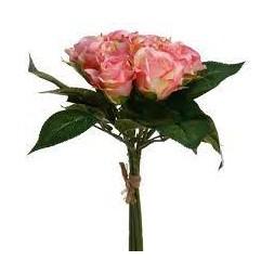 Bouquet de 9 roses roses