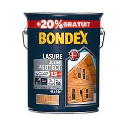 Lasure bois Ultim'protect chêne clair 5L + 20% - BONDEX