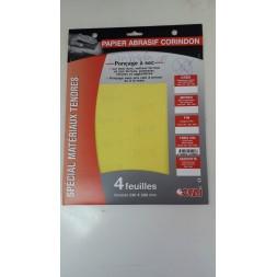 Papier abrasif a sec extra fin 18 - 4 pièces - OCAI