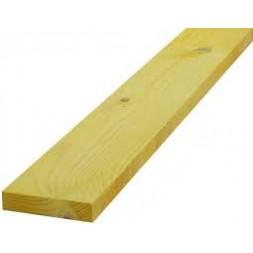 Planche pin traitée raboté classe 4 - 25mm x 225mm L 4m20