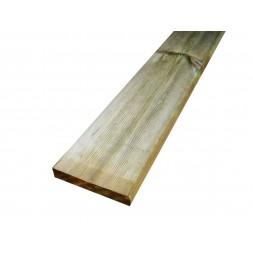 Planche  pin traitée classe IV - 25mm x 22.5cm  long 4m