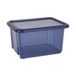 Boîte plastique 23L bleu - PLASTIKEN