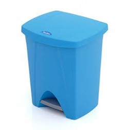 Poubelle à pédale 25l bleu - PLASTIKEN
