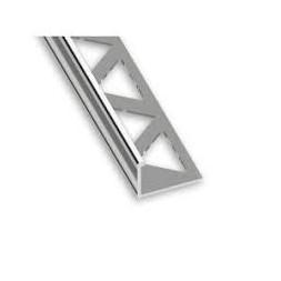 1/4 rond aluminium mat 12.50mm - 2m50