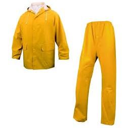 Ensemble de pluie veste + pantalon jaune L