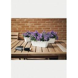 Balconnière licum + plateau blanc 20cm - EURO3PLAST