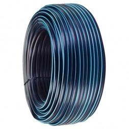 Polyéthylène bande bleue  25x3mm long 100m