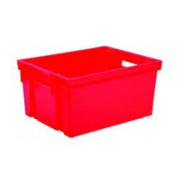 Bac de rangement sans couvercle rouge 50L