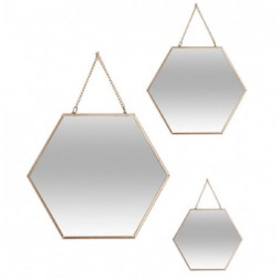 Miroir hexagonal à chaine - ATMOSPHERA