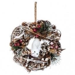 Couronne de Noël à suspendre