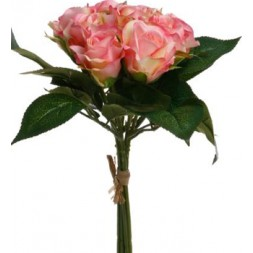 Bouquet 9 Roses roses h24