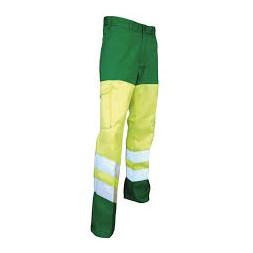 Pantalon haute visibilité vert fluo