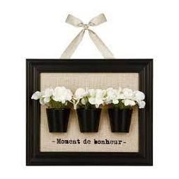 Cadre décoratif 3 fleurs - ATMOSPHERA