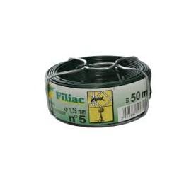 Fil d'attache plastifié vert n°5 fil 1.35mm 50m