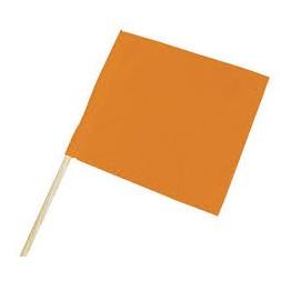 Fanion orange fluo 40x50cm - TALIAPLAST