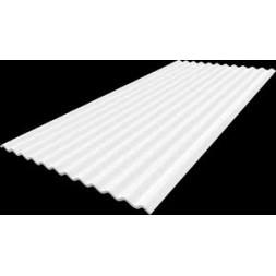 Tôle ondulée 1 face blanc - 25microns/5microns - 75/100e - sans garantie long 2m00