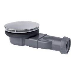 Bonde de douche Slim pour receveur dôme chromé - WIRQUIN