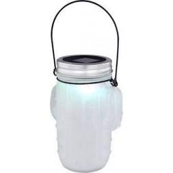 Lampe solaire à poser inox 1 led