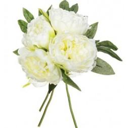 Bouquet 4 Pivoines blanches  h 30cm