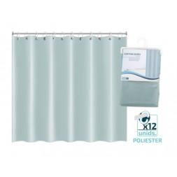 Rideau de bain vinyl vert  100 X 200CM  - GERIMPORT