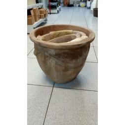 Pot en terre cuite finition antique - 3 pièces