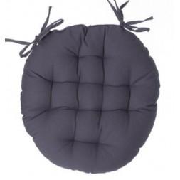 Galette de chaise ronde gris foncé - ATMOSPHERA