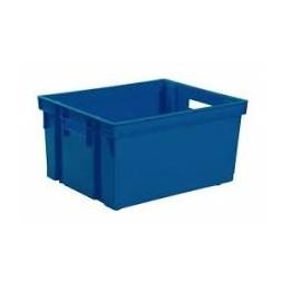 Bac de rangement sans couvercle bleu minéral 50L