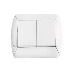 Interrupteur double blanc encastrable 10A - COGEX