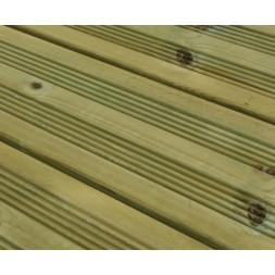 Lame terrasse pin traite vert classe 4  145X27X4800MM