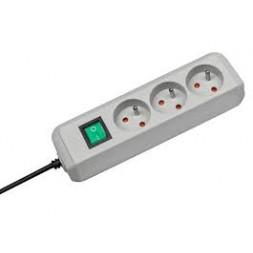 Prolongateur multiprise + interrupteur 3 prises