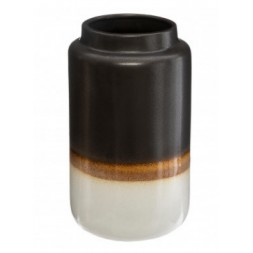 Vase céramique noir réactive - ATMOSPHERA