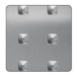 Tôle aluminium carrée  500 x 500mm