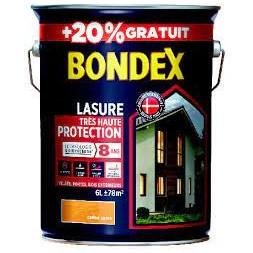 Lasure bois chêne doré 5L + 20% - BONDEX