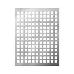 Tôle perforée galvanisée C10/U15 1000 x 2000 x 1mm