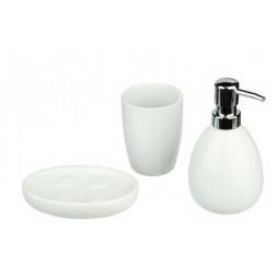 Set de 3 accessoires de bains blanc - ATMOSPHERA