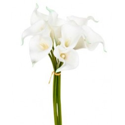 Bouquet 8 arums blancs artificiels - ATMOSPHERA
