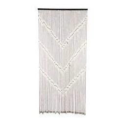 Rideau de fil en bois