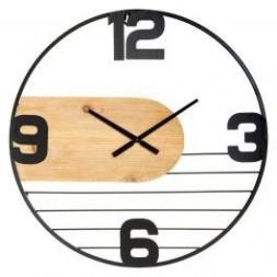 Horloge Emy métal bois - ATMOSPHERA