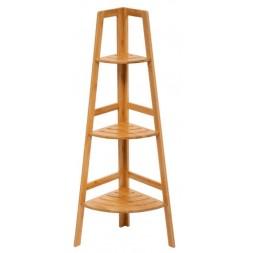 Étagère d'angle à 3 niveaux en bambou SICELA
