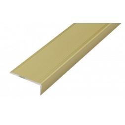 Nez de marche aluminium doré 40 x 15mm x 1m