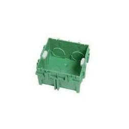 Boite d'encastrement maçon 75x75x40mm vert - DEBFLEX