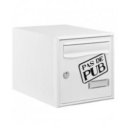 """Boîte aux lettres """"STOP PUB"""" 1 porte - DECAYEUX"""