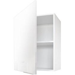Meuble haut 40cm façade blanche + poignée et fixations