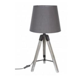 Lampe bois archi grise