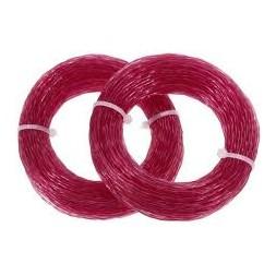 Fil nylon débrousailleuse rose 3.0mm 24m