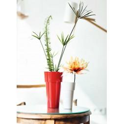Pot de fleurs haut blanc Ø10cm